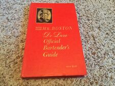 Vintage Mr.Boston Deluxe Official Bartenders Guide Hardcover Book Red