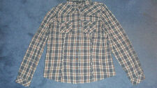 Topshop Hip Length Checked Collared Tops & Shirts for Women