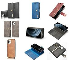 Leather Magnetic Removable Wallet Flip Case Cover for iPhone And Samsung