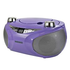 Magnavox MD6949-PL Portable CD Boombox with AM/FM Radio and Bluetooth in Purple