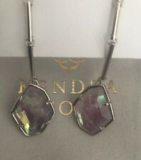 NWT Kendra Scott Charmian Drop Earrings Amethyst Dichroic Glass $80.00