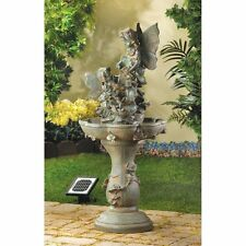 Large Outdoor Garden Water Fountain Patio Decor Solar Waterfall Floor Ornament