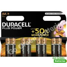 8 x Duracell AA Plus Power Alkaline Batteries, Duralock LR6 MN1500 MIGNON STILO