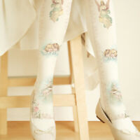 Cute girl Angel Printing Lolita velvet Tights Pantyhose cosplay 80D