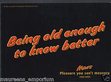 Chocolate Confectionery Postcard - Mars Celebrates it's 70th Birthday    RR123