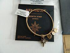 NEW Alex & Ani NORTH STAR w Svarovski crystal in gold Bangle+Card,Box,BAG,Tissue