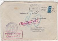 Germany 1955 Koln Cancel Obligatory Tax Aid for Berlin Stamps Cover Ref 28108