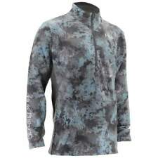 Huk Men's Tidewater SubPhantis Camo 1/4 Zip Fishing Shirt H1300026