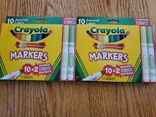 Crayola Ultra-Clean Washable Markers 10+2 Bonus Neon Marker. Brand new.