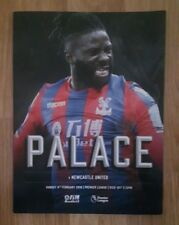 Crystal Palace v Newcastle United FC 04/02/2018 Official NEW Match Programme