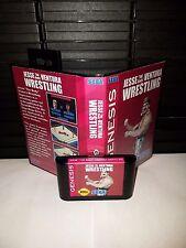 Jesse The Body Ventura Wrestling Game for Sega Genesis! Cart & Box
