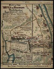 "Battle of Newberne, NORTH CAROLINA, 1862 hand drawn MAP, Civil War, 20""x16"""