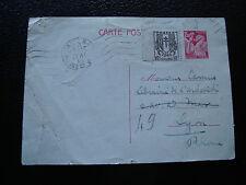FRANCE -  carte entier 1946 (pliure) (cy23) french