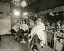 Vintage Three Chair Barber Shop Antique Barbers Old Time Barbershop 1924 GREAT