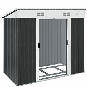 KESSER® Gerätehaus L Geräteschuppen 3,4m³ Metall Gartenhaus Schiebetür 2m²