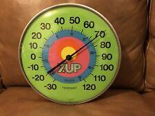 "RARE Vintage 1970s 7 UP 12"" Round Jumbo Thermometer"