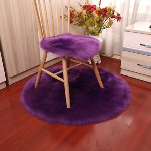 Luxury Soft Small Artificial Sheepskin Rug Chair Cover Bedroom Mat Hairy Carpet