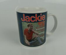Official Jackie Magazine Mug 'Socks it to You!' Blue Red Tea Coffee Cup Vintage
