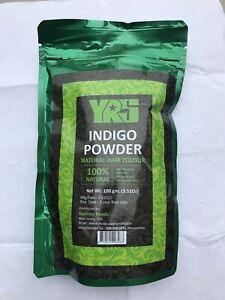 INDIGO POWDER BY YRS 100 GUSDA 100% Natural & Vegan+ FREE GIFT
