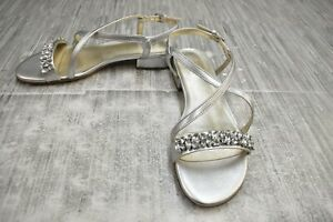 Naturalizer Macy Slingbacks Heeled Sandal, Women's Size 8M, Silver NEW