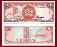 Trinidad & Tobago P36c, $1, Scarlet Ibis / Point Lisas, oil refinery, 1985 UNC