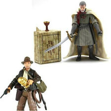 Lot 2pcs Indiana Jones Last Crusade Grail Knight 3.75 inch action figure Bot Toy