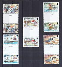 Alderney 1991 postfrisch Stegpaar MiNr. 49-53 Automatisierung der Leuchtfeuer