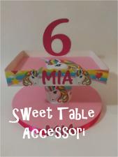 1 alzatina 2 piani porta cupcakes dolci festa party set sweet table unicorni