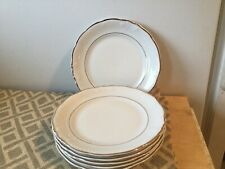 Royal Kent White Gold Trim Bread And Butter Plate (6)
