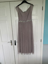 Silver Screen By Lindy Bop Abrielle Beaded Evening Dress Size 10 BNWT