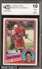 1984 Topps #49 Steve Yzerman RC Rookie BCCG 10 Centered HOF Red Wings