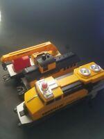 Caterpillar Construction Express Train Lot Motorized Train Set USED