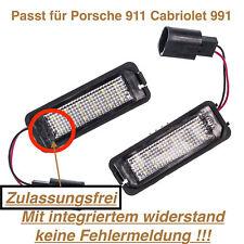 2x TOP LED SMD Kennzeichenbeleuchtung Porsche 911 Cabriolet 991 (VWP)