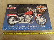 Revell, Harley Davidson, springer softail motorcycle. 1/8 snaptite model. New!