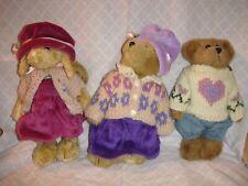 New ListingBoyds Bears 1997 Plush Bailey Edmund & Emily Spring Set