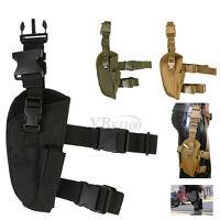 Adjustable Tactics Army Pistol Gun Drop Leg Thigh Holster Mag Pouch Right