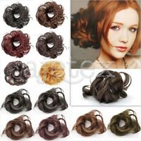 Synthetic Black Brown Blond Pony Tail Extension Wig Hairpiece Hair Bun Hot Sale