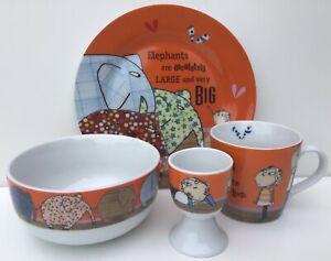 Charlie and Lola Ceramic Set~Mug,Plate,Bowl,Egg Cup~Lauren Child~Wild & Wolf