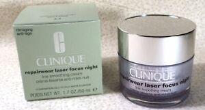 Clinique Repairwear Laser Focus Night Cream - Comb. Oily to Oily Skin - 1.7 oz.