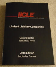 IICLE, Limited Liability Companies, 2018 Edition, Hardbook, William Price, IL