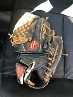 Rawlings PP224 11 Inch RHT Leather Baseball Glove Mitt Youth