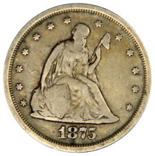 1875-S TWENTY CENT ~ NICE ORIGINAL 20C. ~ VF VERY FINE!
