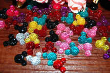 40 Pcs Mixed Mickey Flat Back Resin DIY mobile phone case decoration cosmetic