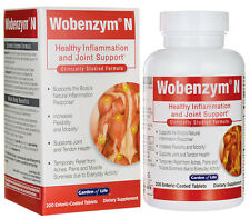 Garden of Life Wobenzym N 200 Tablets Inflammation Joint Support FREE SHIPPING