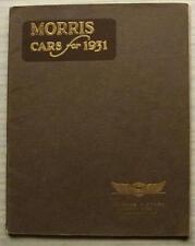 MORRIS CAR RANGE Sales Brochure For 1931  MINOR Major OXFORD Isis FIRE TENDER ++
