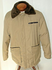 Vintage Men's 42 Browning Goose Down Parka L Faux Fur Collar Hunting Field Chore