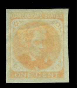 US 1862 Confederate States - John Calhoun 1c orange Sc# 14 mint MH VF