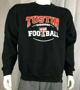 Tustin Tillers High School Football Crewneck Sweatshirt, Black, Men's Large