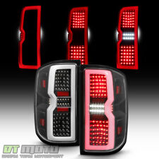 [3D Sequential Signal] 2014-2017 Chevy Silverado 1500 2500 LED Tail Lights-Black