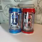 2 - Mini RC Car in a Can with Charger & Remote, Headlights Light Up Car Racers